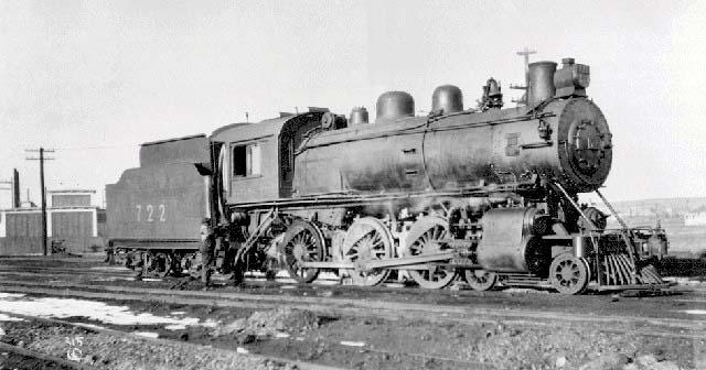 A 4-6-0 Ten-Wheeler class D10 No. 722, similar to No. 694..